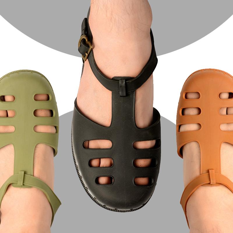越南男士包头老式复古休闲防水军鞋