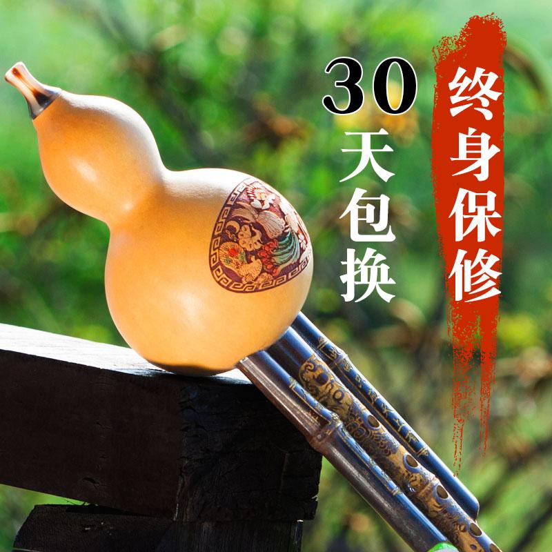 云南葫芦丝乐器初学降B调C调紫竹成人自学教材儿童学生胡芦丝乐器
