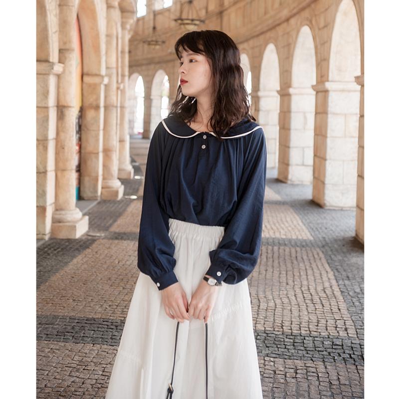 (用5元券)安小落女设计感小众2019早秋衬衫