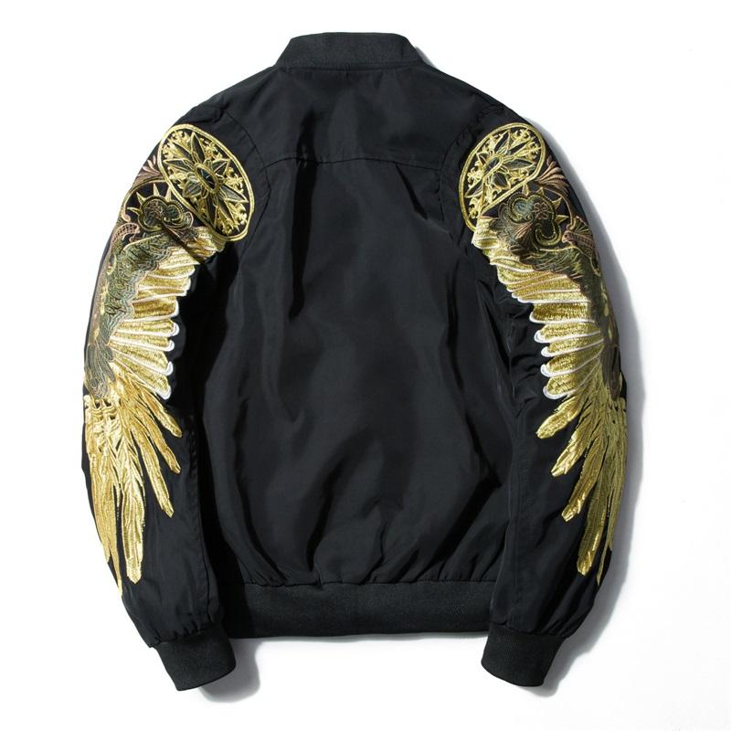 春秋季翅膀刺绣棒球服潮牌原宿风情侣装飞行员夹克上衣薄款夏外