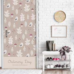 小鸟树叶包门贴纸旧木门翻新推拉 自粘防水衣柜门贴画墙贴卧室门
