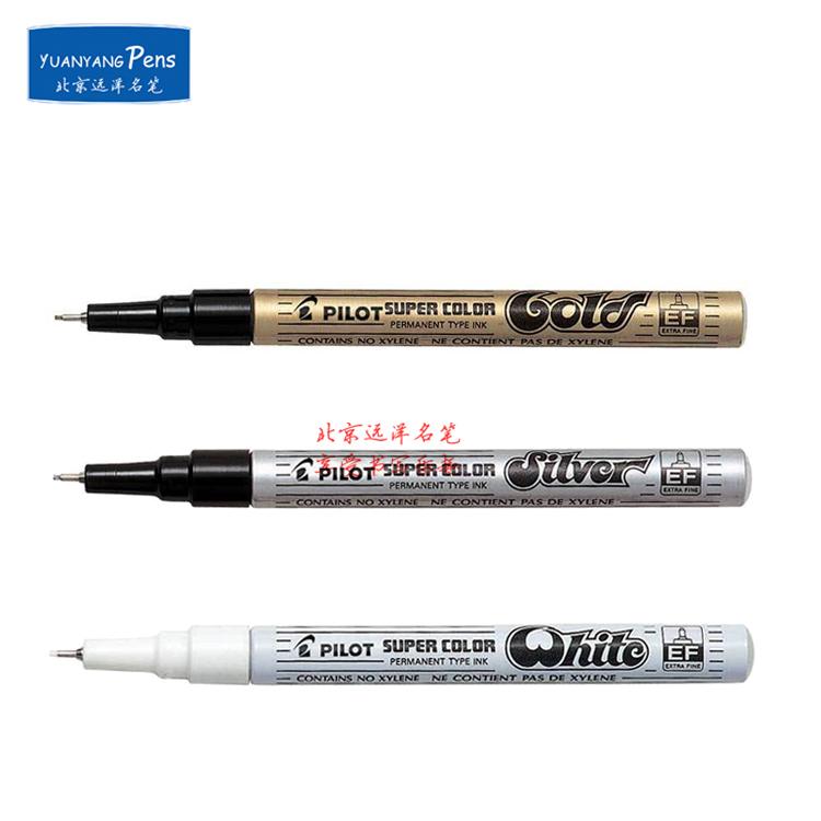 日本百乐油漆笔 PILOT百乐SC-EF记号笔 特细0.5mm 金色银色白色