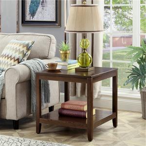 简约沙发边几柜小桌子客厅角几实木小茶几美式家用方几角柜床边桌