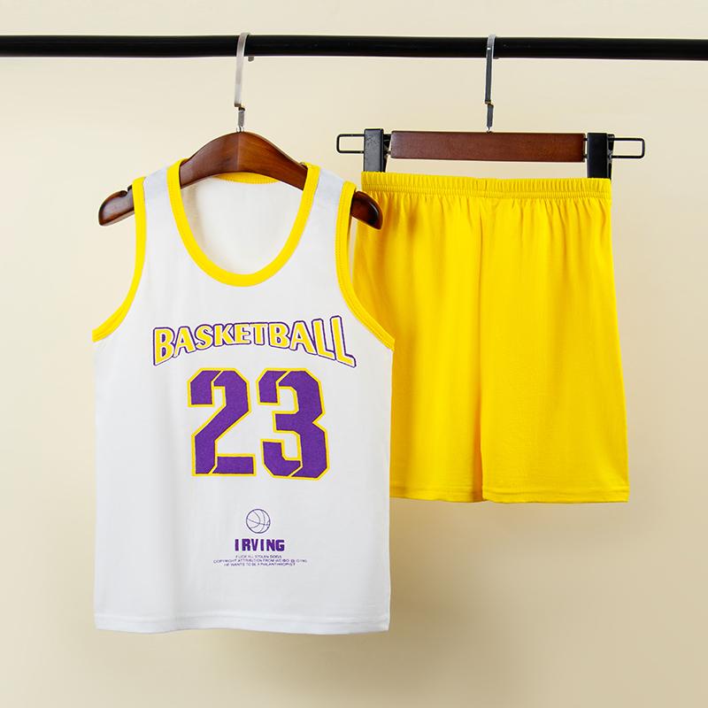 ZE背心套装TZ26-P15儿童童装无袖T恤男女童体恤运动服23号球衣