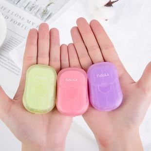 旅行随身肥皂片一次性香皂纸洗手皂液片便携式花瓣口袋便携洗手液