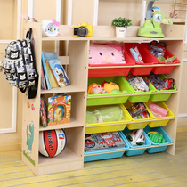 Dessenle Toy Rack Childrens bookshelf toy storage rack Finishing rack Toy storage cabinet locker shelf floor rack