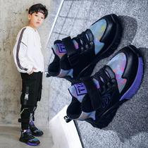 新款秋款时尚中大童男童网面运动鞋女2019巴布豆童鞋旗舰儿童鞋子