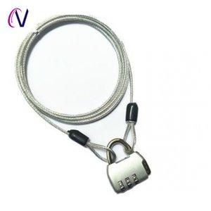柜子锁钢丝绳锁可伸缩户外箱包旅行箱锁小锁行李箱锁锁背包绳链