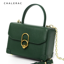 Hand-held Bag New Genuine Leather Bag 2009 Fashion Hundred Chain Box Bag Square Bag One Shoulder Slant Bag