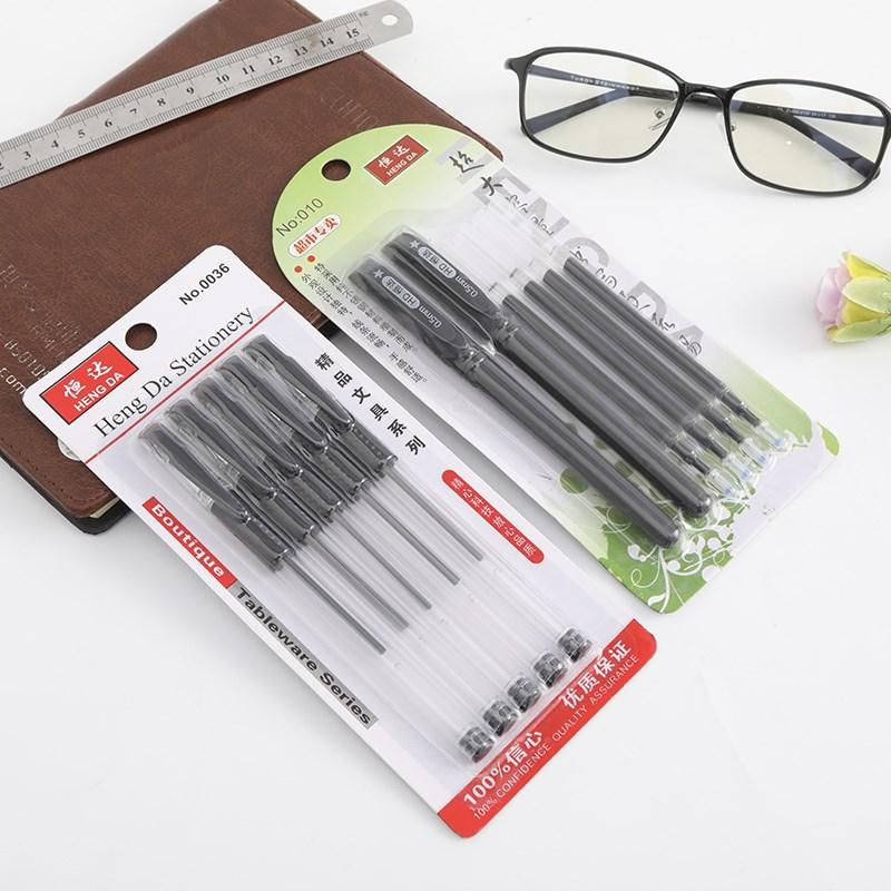 优选中性笔批发水性笔E585黑色0.5MM子弹头笔芯水笔文具签字笔
