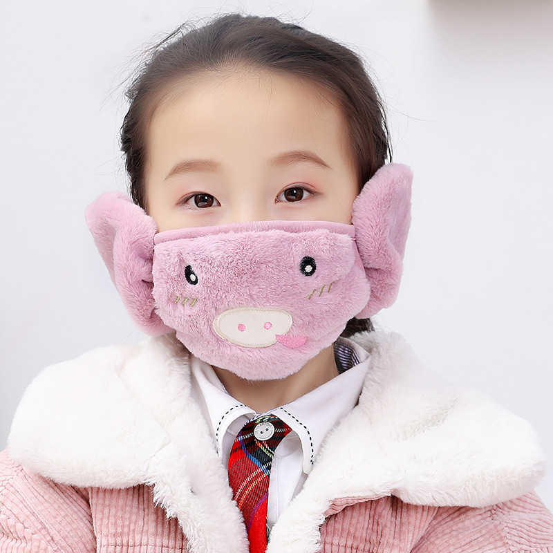 Childrens warm two in one mask in autumn and winter