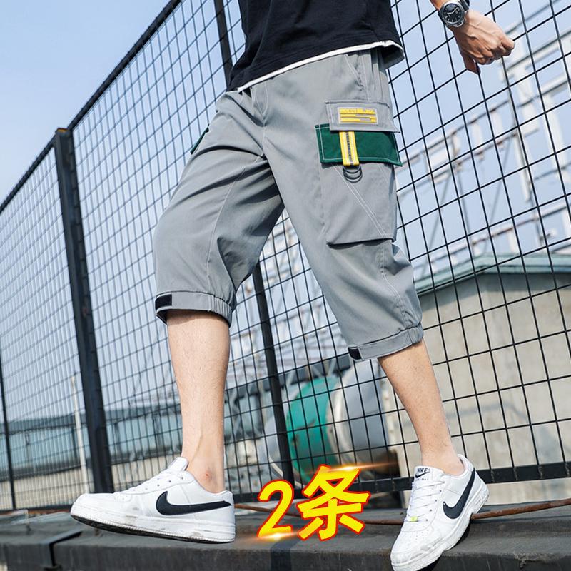 七分裤夏季青少年12男孩13大童15岁初中学生帅气工装短裤休闲中裤