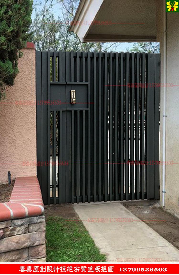 别墅门庭院锌钢铁艺大门欧式简约单开双开乡村花园防盗对开进户门