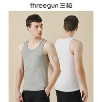 [2件装]三枪背心男无袖纯色弹力棉打底内衣运动导湿男士上衣圆领
