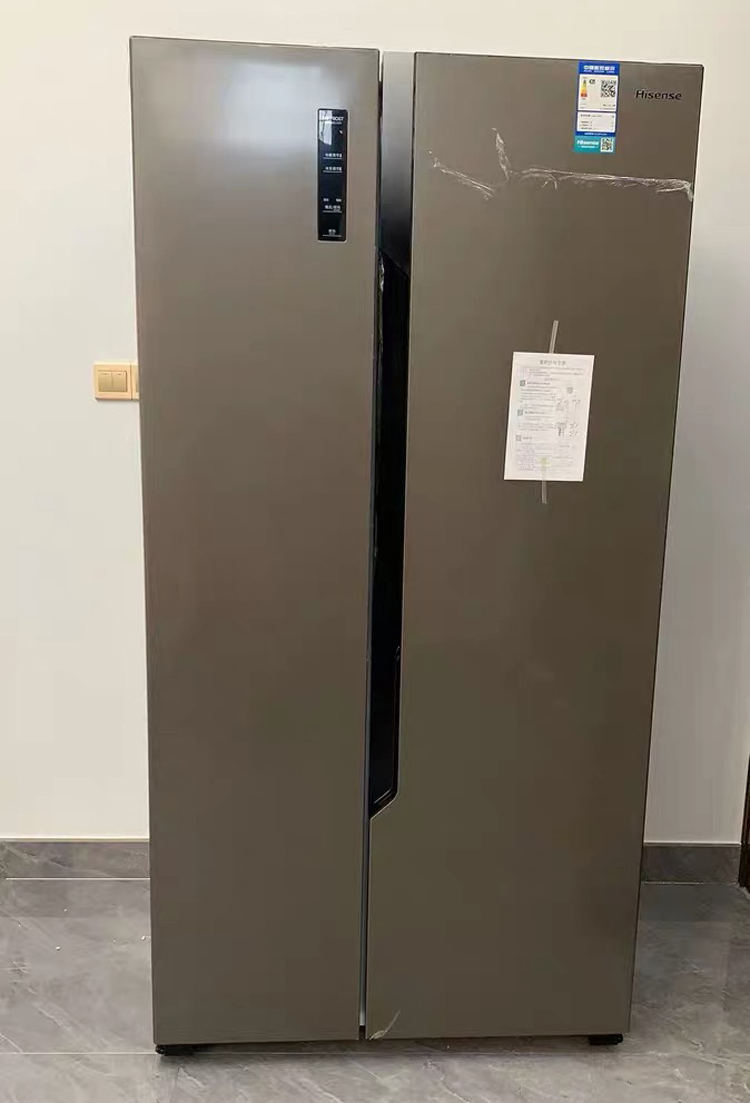 Hisense / Hisense bcd-650wfk1dpuq double door refrigerator primary energy saving variable frequency air cooling frost free