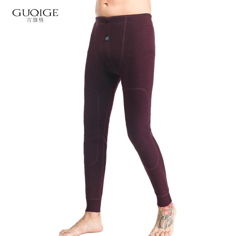 Mens warm pants Plush thickened youth slim fit bottomline pants wool pants cotton pants tight autumn pants Plush pants mens winter