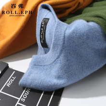 New cashmere sweater in autumn and winter of 2018 Men's round collar Thickened young cashmere knitted wool sweater in winter