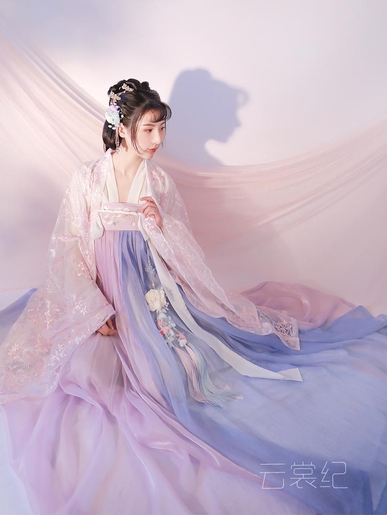 春樱紫蓝汉服女中国风夏季仙气古138.00元包邮