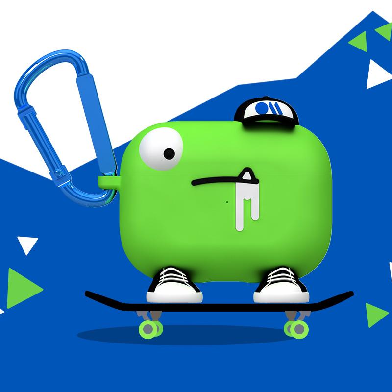 Case Mate苹果无线蓝牙耳机保护套AirPods Pro3代怪兽可爱硅胶壳