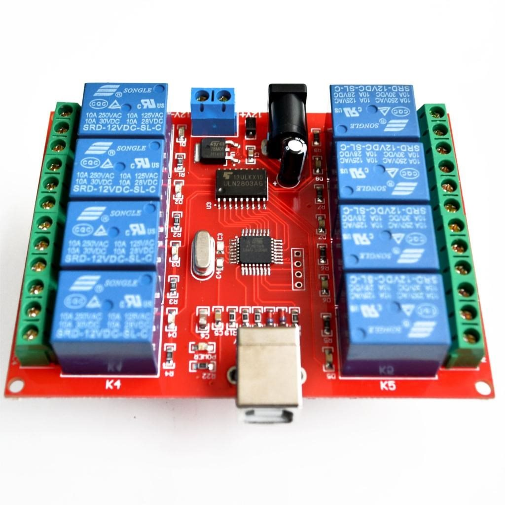 2pcs 8 channel 12V relay module computer USB control switch,可领取元淘宝优惠券