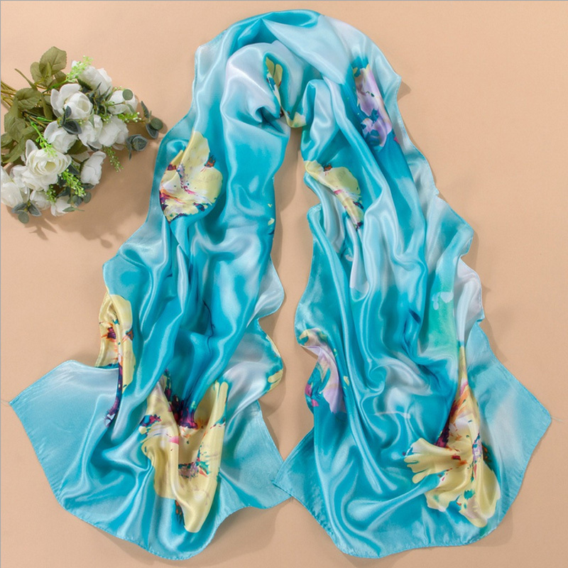 Female Long Scarf Shawl Silk Printed Women Beach Cover-Up Fe,可领取元淘宝优惠券