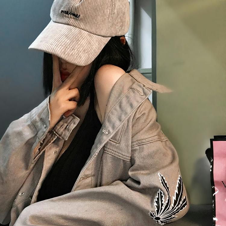 Sac original linen work jacket autumn loose Korean BF Harajuku denim jacket for men and women