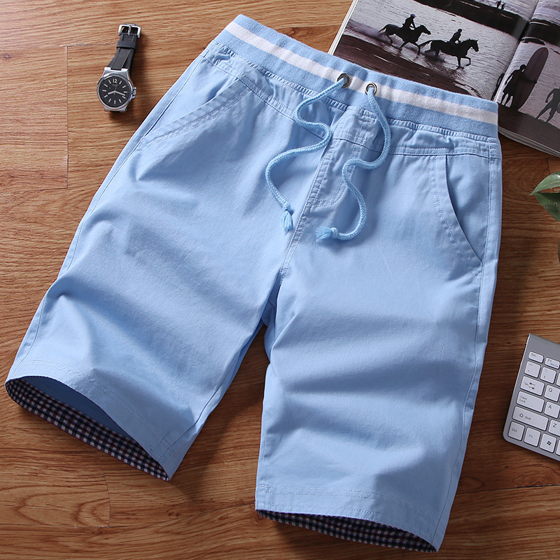 Satisfied with innovative new summer pants mens pure cotton shorts mens 5 point pants mens 2019 casual trend pants