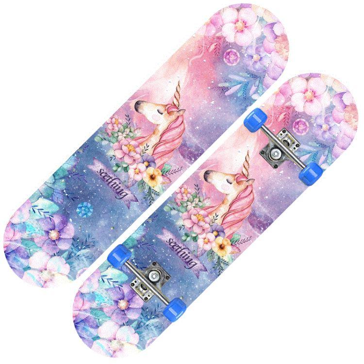 儿童滑板5四轮6闪光7小女孩子8粉色车3-12岁9男女童10装饰单板玩