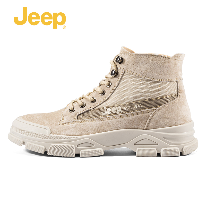 Jeep Jeep Martin boots men's summer new high-top tooling shoes trend casual breathable in desert boots