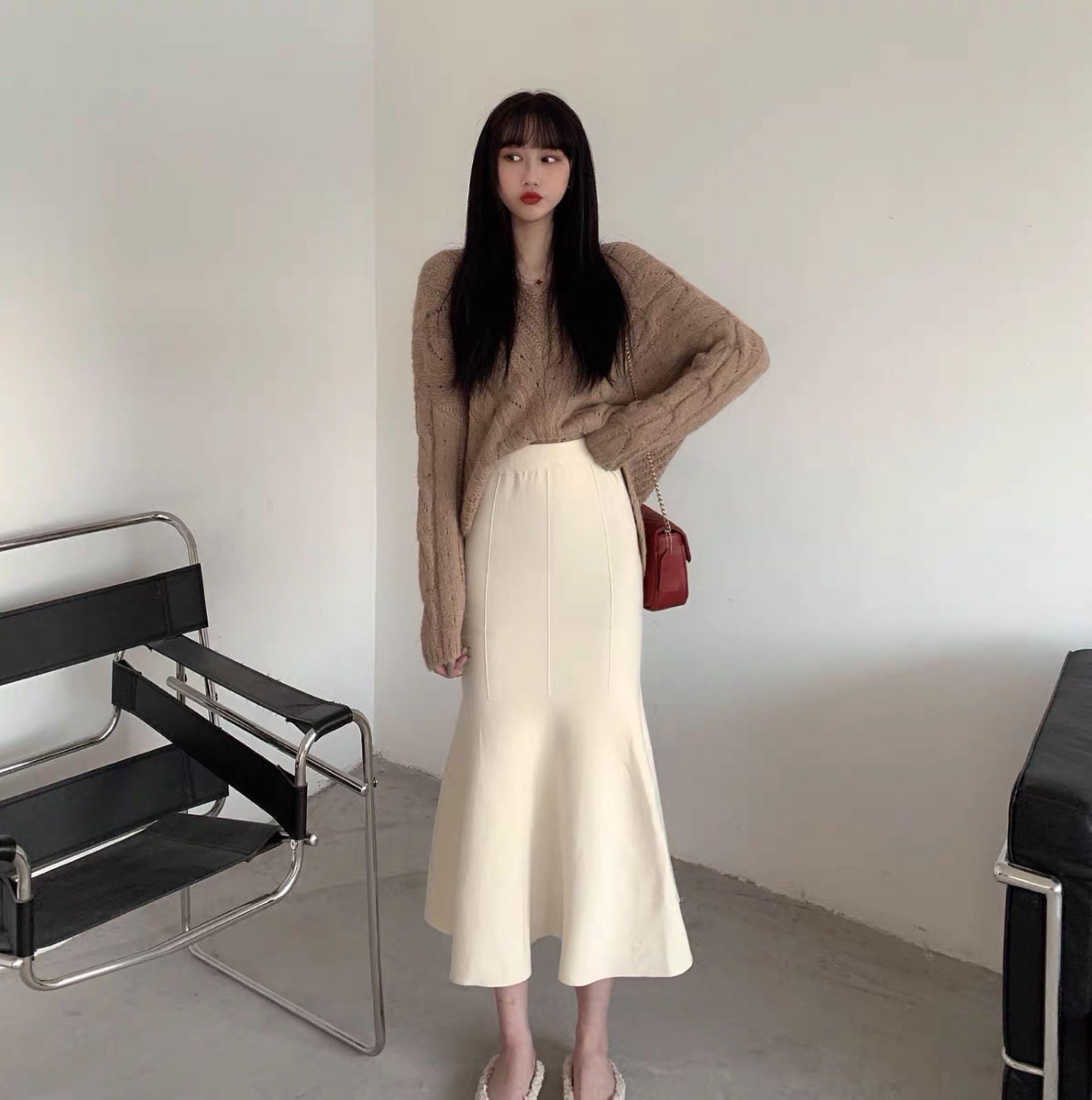 2019初秋網紅上衣小香風洋氣女神裙子小個子抖音兩件套裝女秋冬季