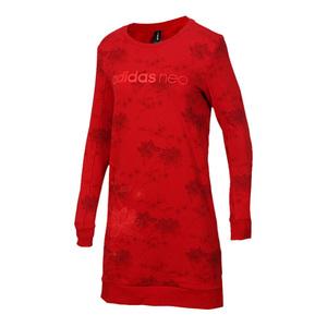 Adidas阿迪达斯 女装 2020秋季新款正品NEO运动卫衣连衣裙 DZ7608