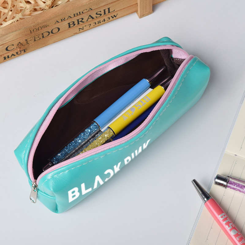 BTS bullet proof youth group pencil bag got7 idol star peripheral bag stationery box student lovely four color pencil bag