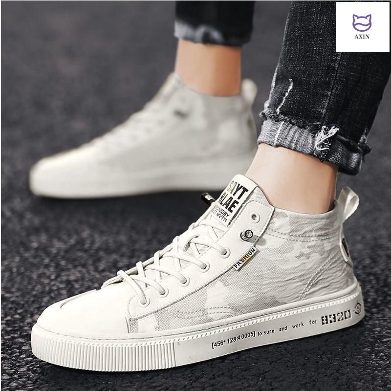 Mens shoes 2020 spring new mens high top shoes canvas shoes mens casual shoes board shoes summer breathable tidal shoes
