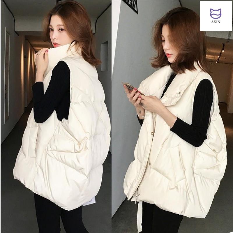 Down cotton vest women wear winter 2019 new fashion Korean thickened medium length loose autumn winter cotton vest coat