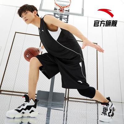 安踏篮球服套装男2021夏季新款吸湿速干球衣球裤运动套装男两件套