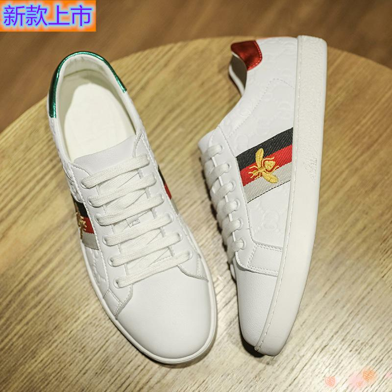 High grade genuine spring new board shoes mainly promote four seasons bee printing mandarin duck small white shoes small white shoes leisure low top