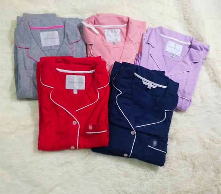夏の薄手タイプの欧米綿100小サイズカジュアルルームウェアが痩せやすいスーツのパジャマ女性純綿時代の長袖です。