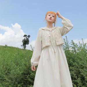 芝士日【小杏云】杏色棉麻新款连衣裙