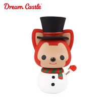 Beaver Mini Doll Snowman Christmas Anime peripheral holiday hand Office cute desktop Decoration doll Collection