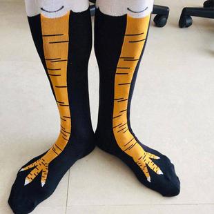 夜间实验鸡爪袜健身女搞怪鸡脚袜子图案鸵鸟袜子男鸡腿袜瘦腿凤爪