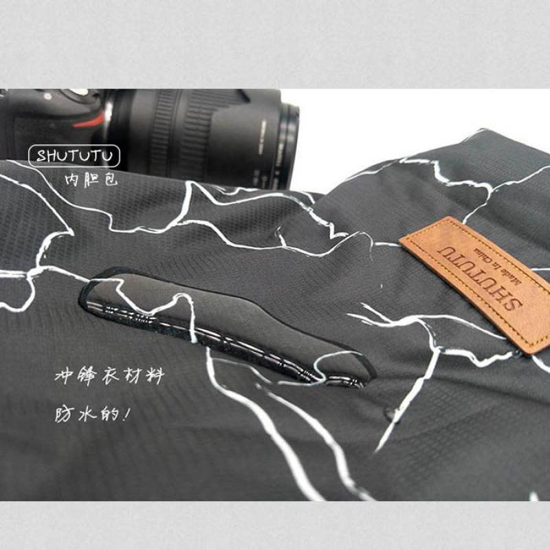 微单单反相机内胆包可放休闲包双肩背包数码摄影器材收纳袋轻便