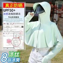 防晒衣女2021新款夏季薄防晒服长袖骑车防紫外线透气防晒罩衫大码