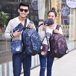 大容量男女高中小学生韩版17双肩包