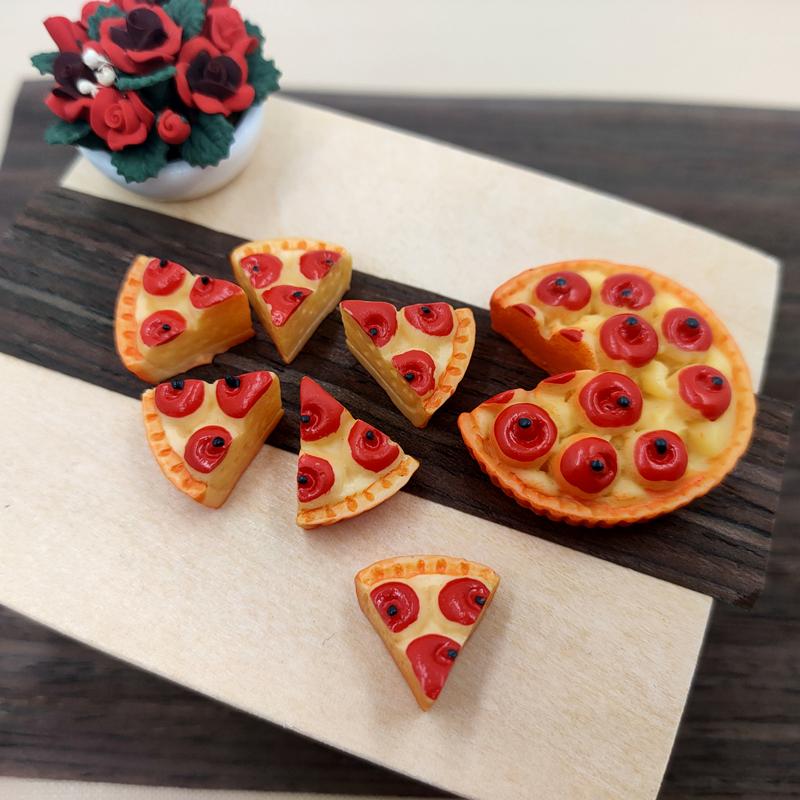BJD Mini Doll House apple pie pizza game model prop ob11 blind box scene decoration accessories