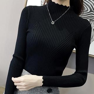 秋冬新款女装韩版短款半高领毛衣女打底衫长袖学生针织衫女士衣服