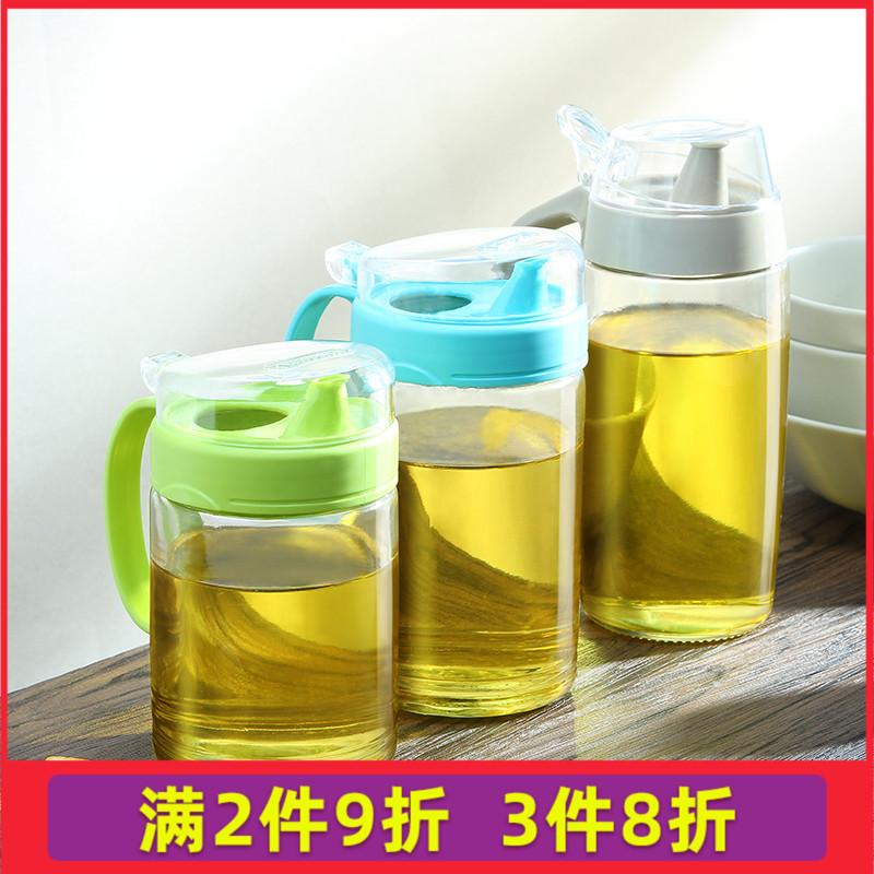 茶花油壶玻璃防漏厨房油罐酱油瓶醋瓶调料瓶6001/6002