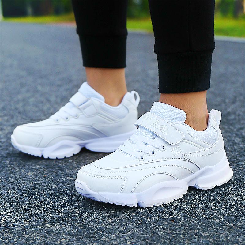童鞋男童小白鞋2019新款春季透气女孩休闲女童白鞋儿童白色运动鞋