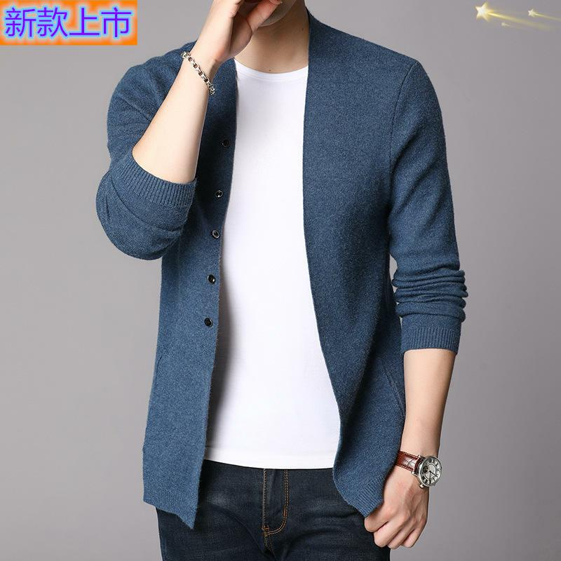 High grade brand autumn mens knitting leisure long sleeve cardigan mens sweater / sweater youth fashion print
