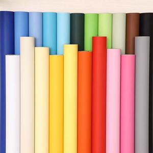 加厚纯色贴纸墙纸自粘壁纸防水防潮卧室家具翻新柜子桌装饰即时贴
