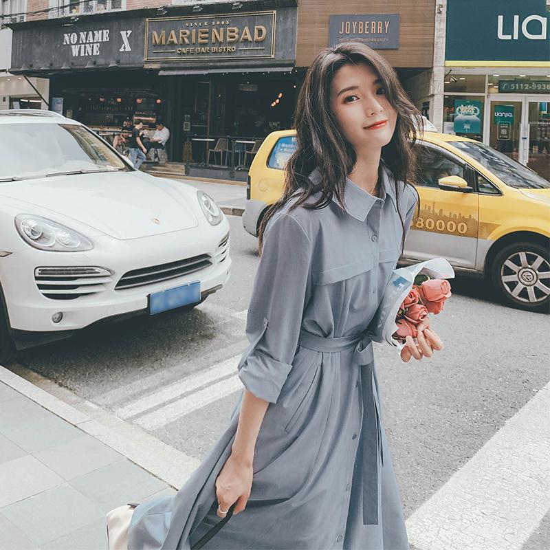 大货已出3色2021秋装新款衬衫裙ZB176-2200-P110控168,女装连衣裙,浙宝176